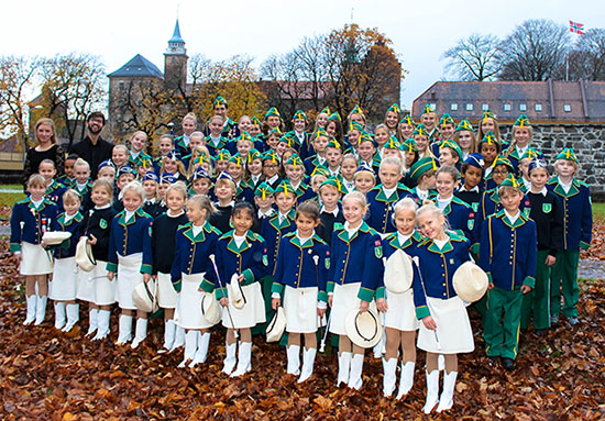 Korsvoll Skolekorps på Akershus Festning